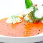 Meniu supa de rosii cu pesto si mozzarela