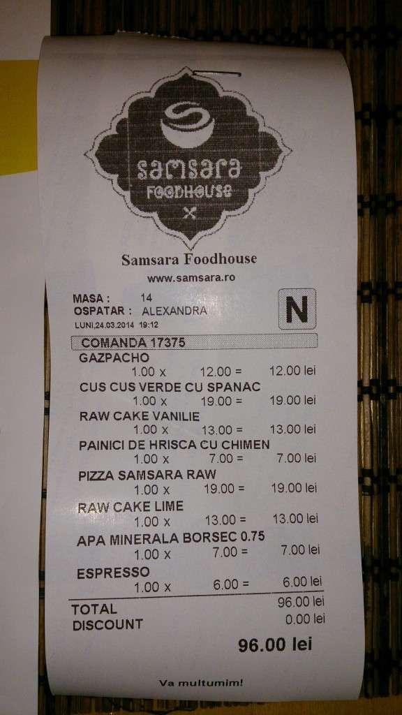 Restaurant raw vegan Samsara Food House Cluj