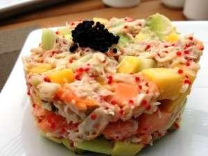 Salata de crab la Restaurantul Argentine in Parcul Herastrau din Bucuresti