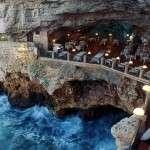 Restaurantul Grota Palazzese, Puglia Italia