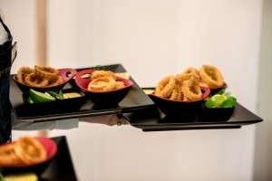 Late Media Lunch. Calamari