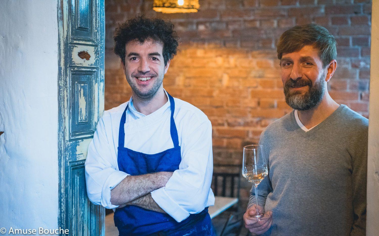 Chef Alexandru Dumitru și somelierul Andrei Popa, de la restaurant Ankina, cei care au dat rețetă de cococi