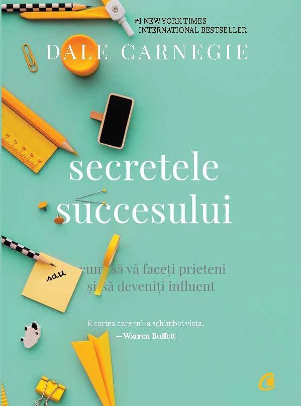 coperta cartii secretele succesului de dale carnegie, una din cărți dezvoltare personală
