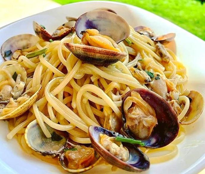 paste cu fructe de mare la restaurant Osteria Zucca