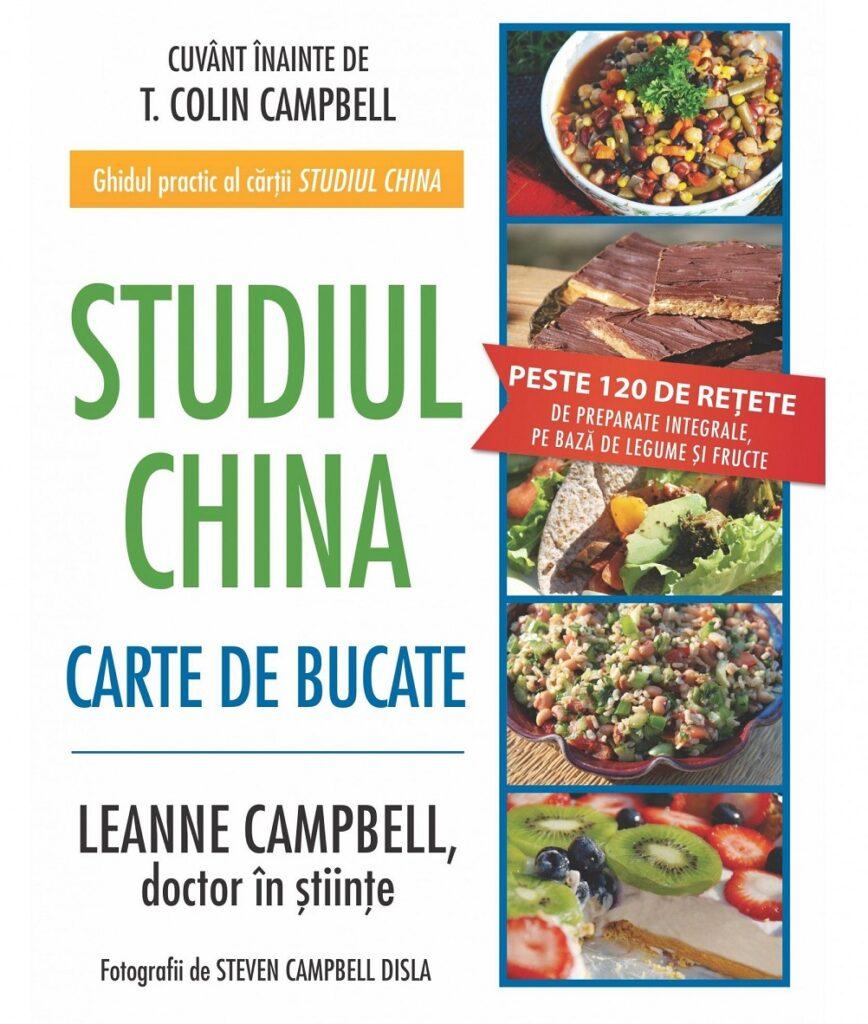 coperta crății cu rețete vegetariene Studiul China Carte de Bucate