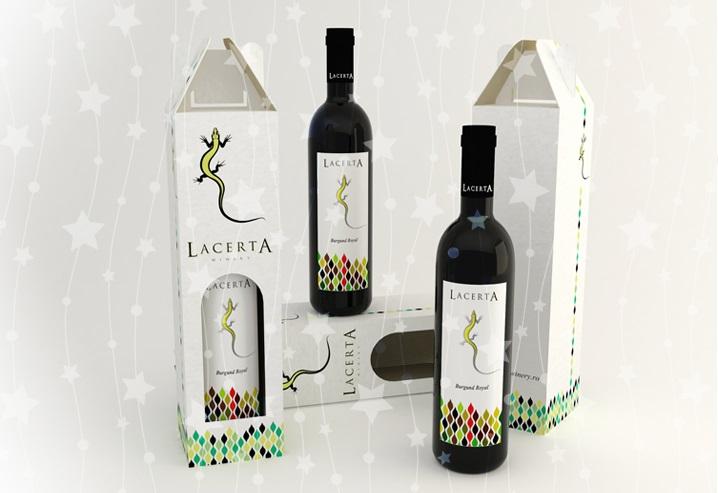seturi de cadou pentru Crăciun cu sticle de vin LacertA