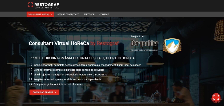 home page-ul de la Consultantul Virtual Restograf