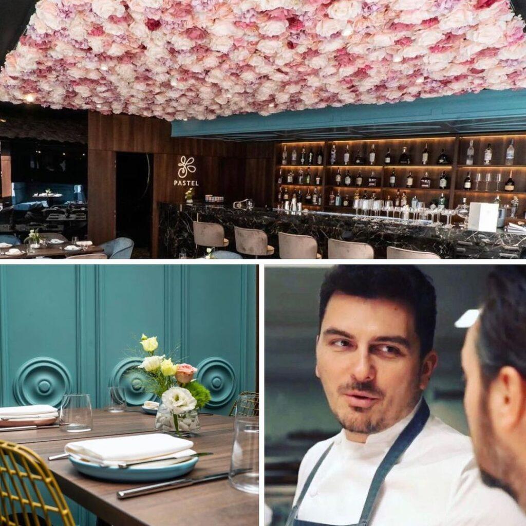 colaj foto cu Chef Bogdan Danila si imagini din Restaurantul Pastel din Cluj